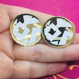 Avon vintage gold earrings